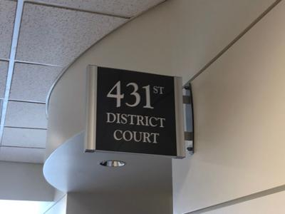Outside the 431st District Court