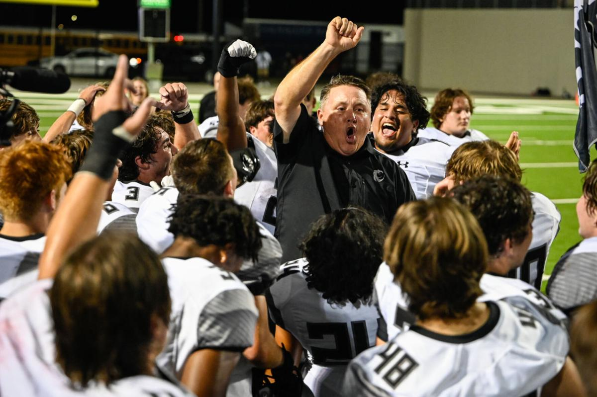 Celebrating with coach