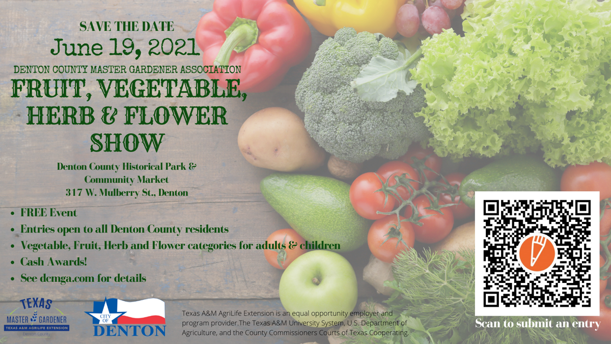 2021 Fruit, Vegetable, Herb & Flower Save the date