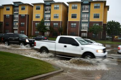 Thunderstorms created intense flash floods throughought Denton County
