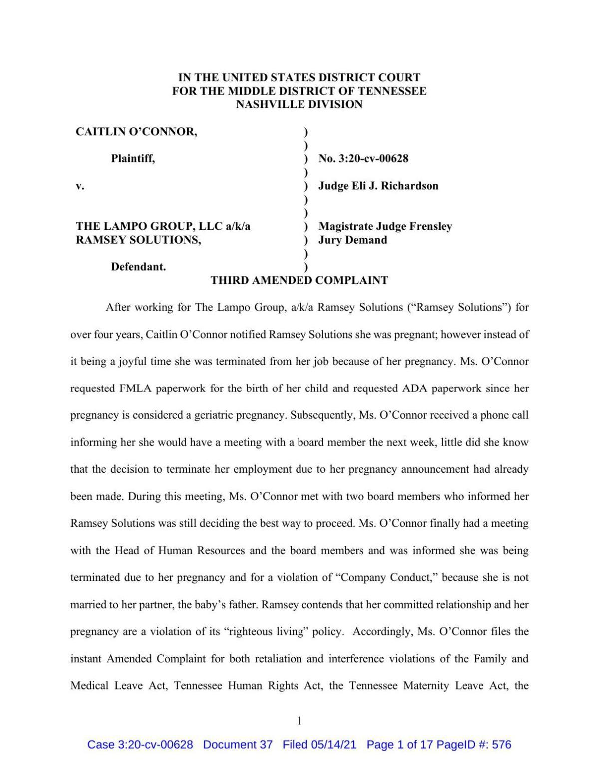 One lawsuit filed against Ramsey Solutions