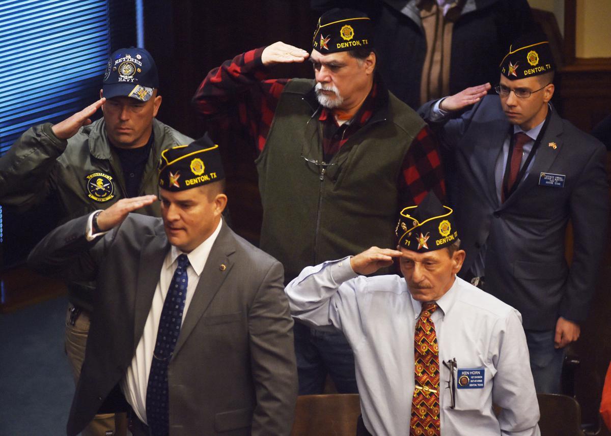 Service members' salute