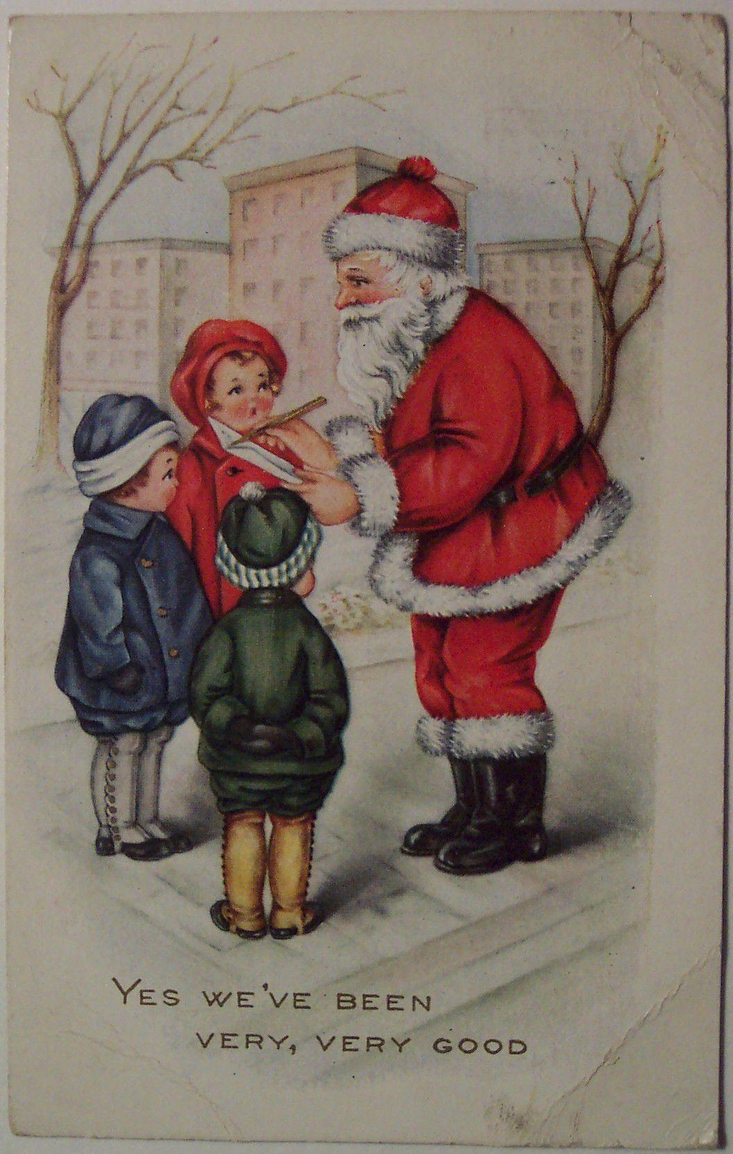 Vintage Christmas postcard 3