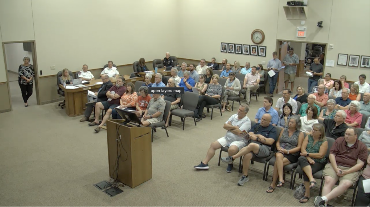 Corinth council meeting
