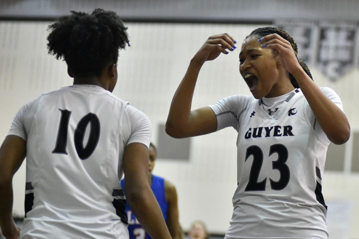 Guyer's Eryka Patton and Hailey Mason