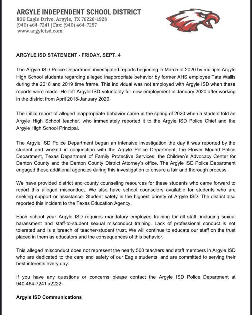Argyle statement