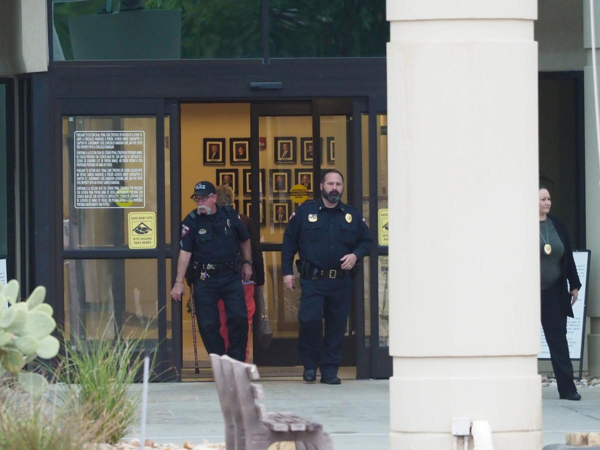 Officers at hospital
