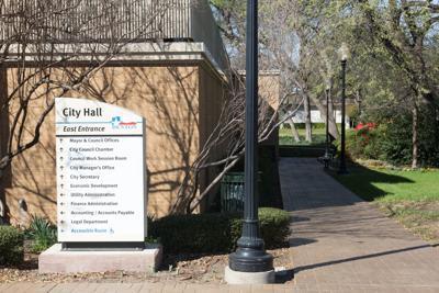 Denton City Hall exterior for stock photo use