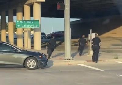 Denton police chase