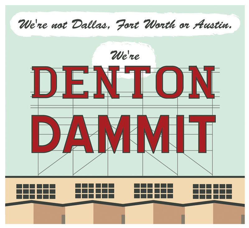 We're Denton Dammit logo