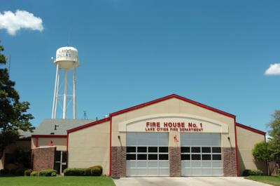A Lake Cities Fire Department station
