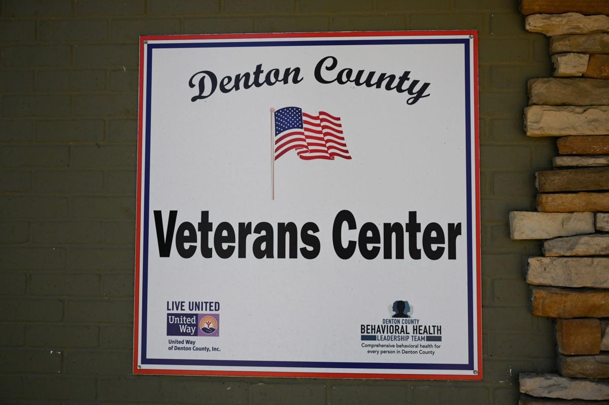 Denton County Veterans Center sign