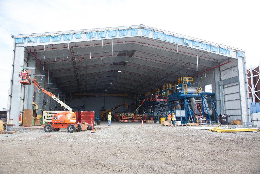 Denton Energy Center construction reaches halfway mark