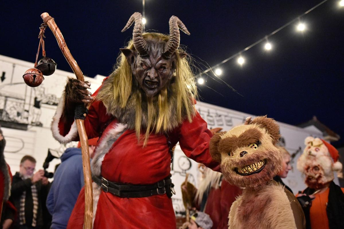 Krampus with scary bear
