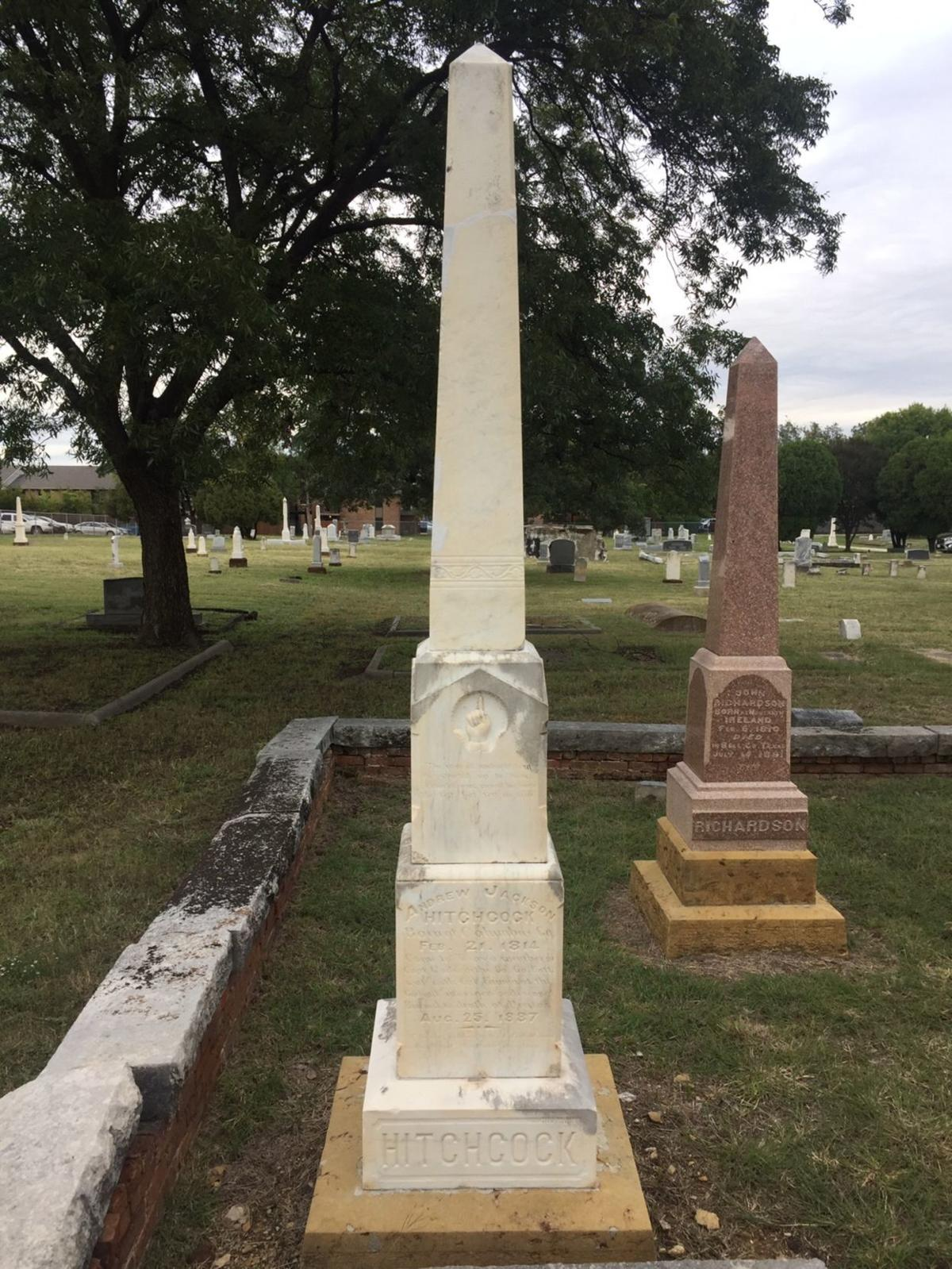 Andrew Jackson Hitchcock obelisk