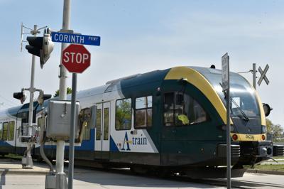 A-train passing through Corinth
