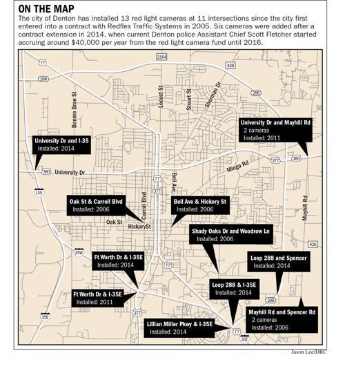 Red light camera locations | News | dentonrc com