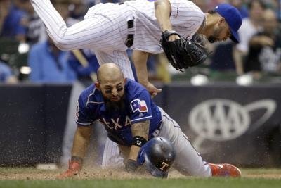 APTOPIX Rangers Brewers Baseball