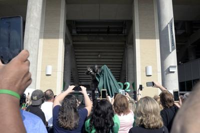 1601b56ce2e Greene touts UNT's future on day statue is unveiled in his honor ...