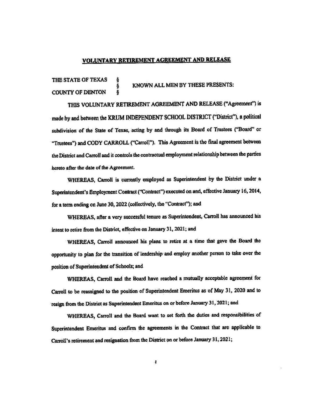 Retirement agreement