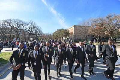 Alphas lead the march