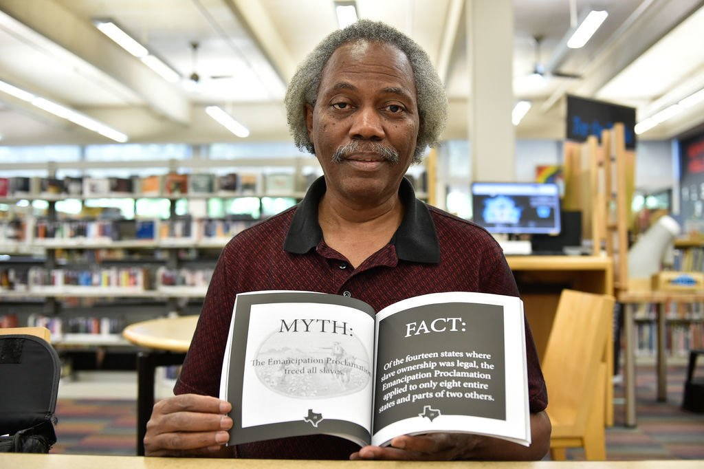 Denton resident Donald Cox wants locals to know a lot more than they do about Juneteenth - the historic event on June 19, 1865 when the United States Army arrived on naval ships in Galveston to tell Texans that they would indeed have to free slaves. Cox sa