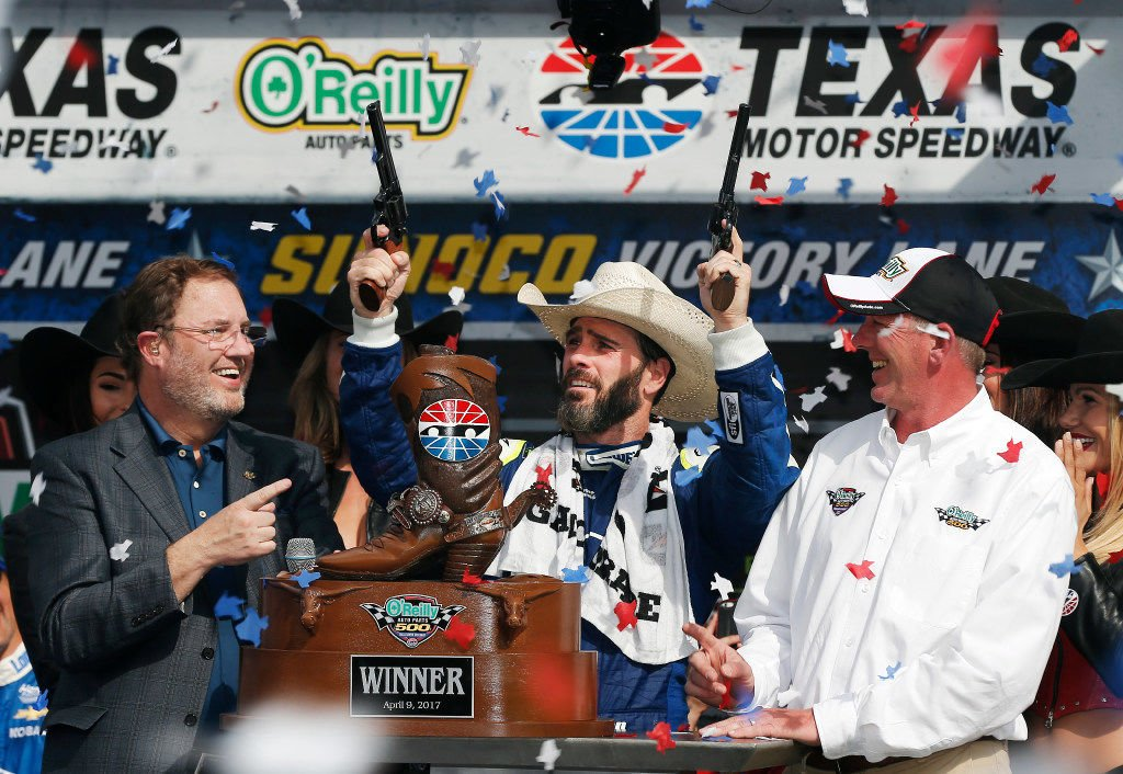 Motor sports: Johnson tames repaved track for seventh TMS victory