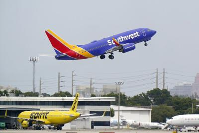 Earns-AirlinesStarting in March, Southwest will offer four daily flights from Colorado Springs to Denver International Airport, three to Dallas Love Field Airport and two each to Las Vegas, Phoenix and Chicago Midway International Airport.