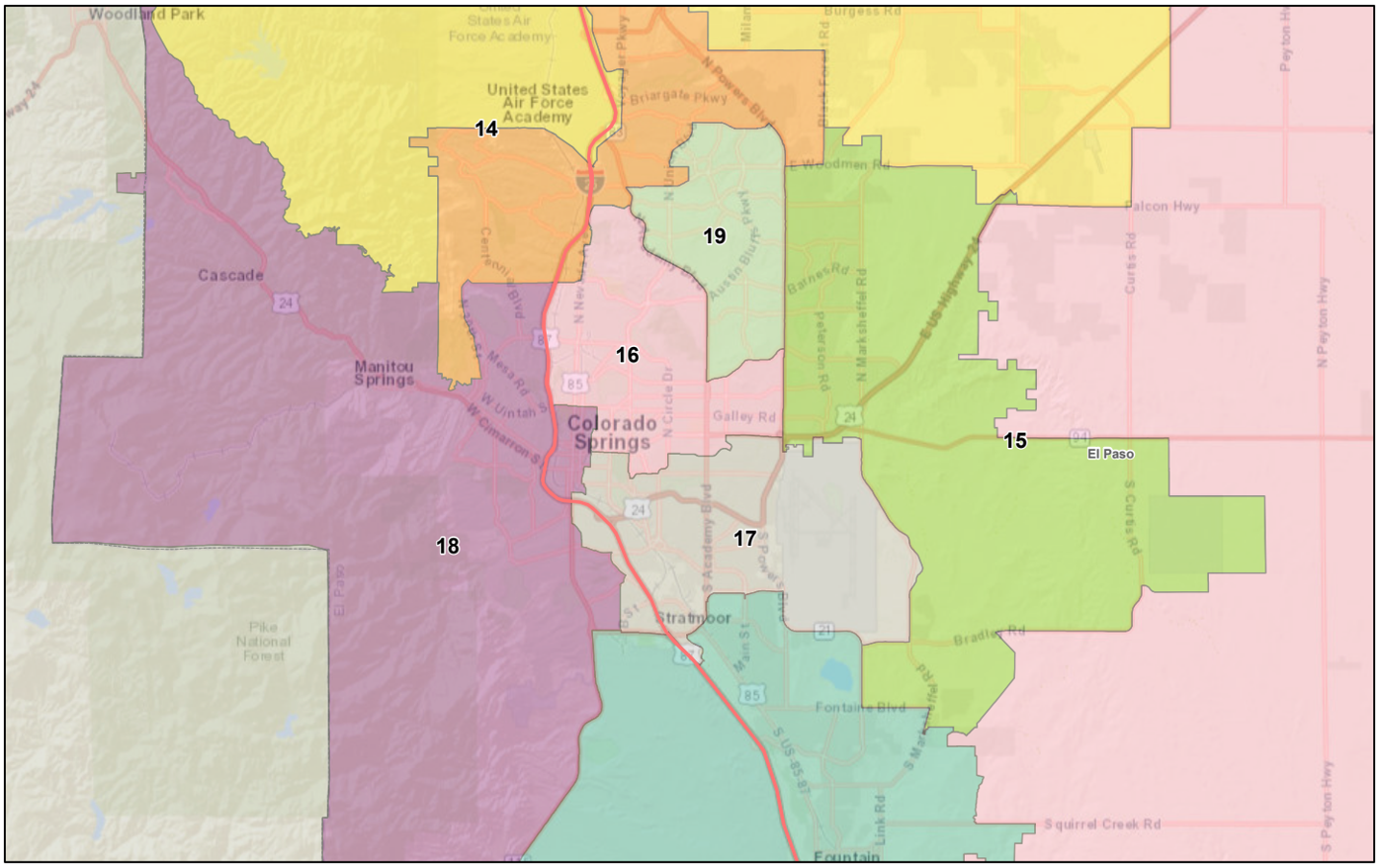 Final adopted state House redistricting plan - Colorado Springs