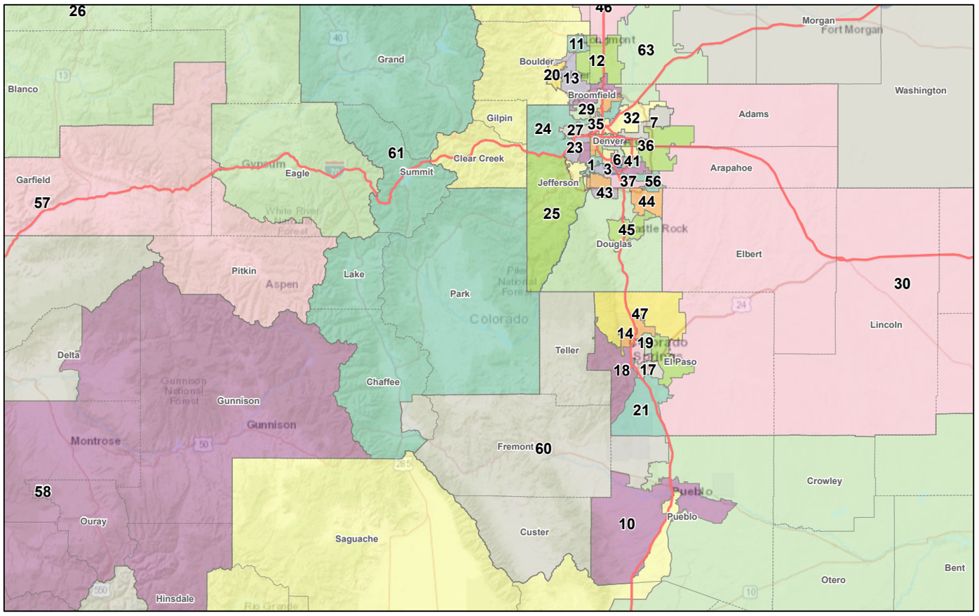 Final adopted state House redistricting plan