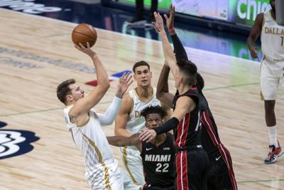 Heat Mavericks Basketball (copy)