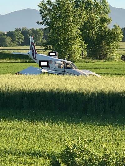 Crashed plane in Boulder County