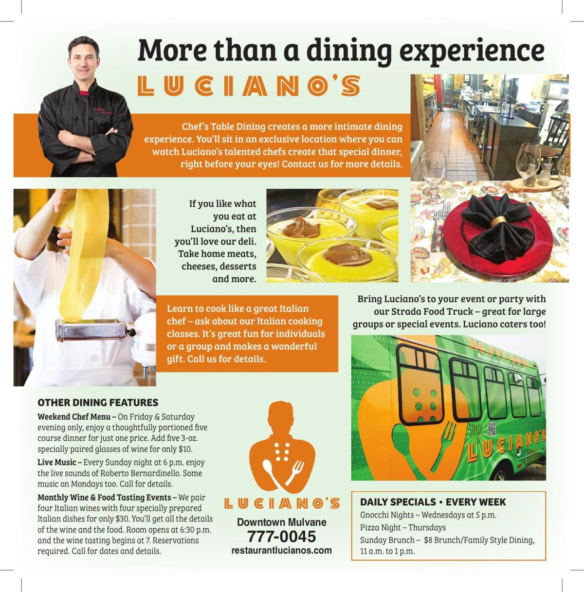 Luciano's: More than a dining experience