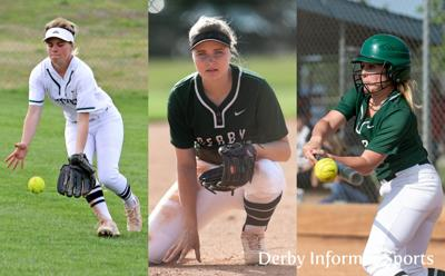 Derby softball all state 2019 (Courtney Cline, Amber Howe, Madi Young)