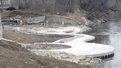 Warren Riverview Park work continues