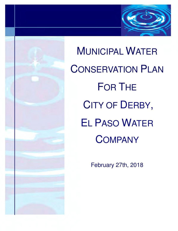 Derby Municipal Water Conservation Plan