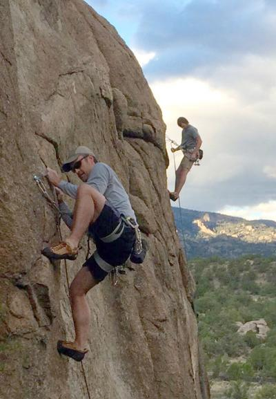 Climbing Davis Face