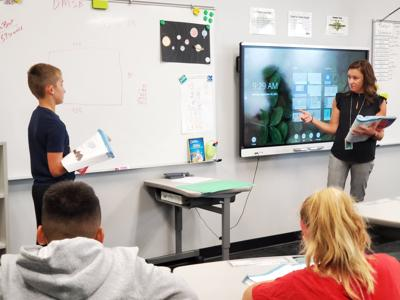 substitute in classroom