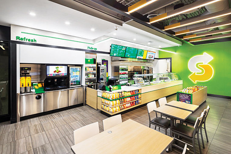Subway restaurant will feature new concept business