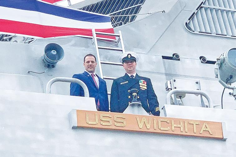 Derby friends reconnect at commissioning of combat ship