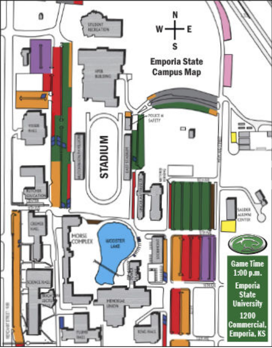 saturday's emporia state map