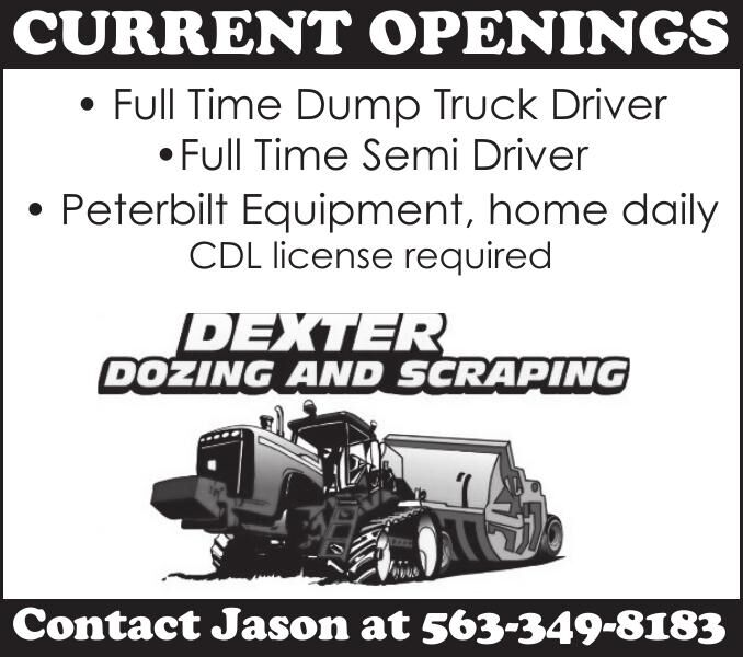 DexterDozing-CURRENT OPENINGS