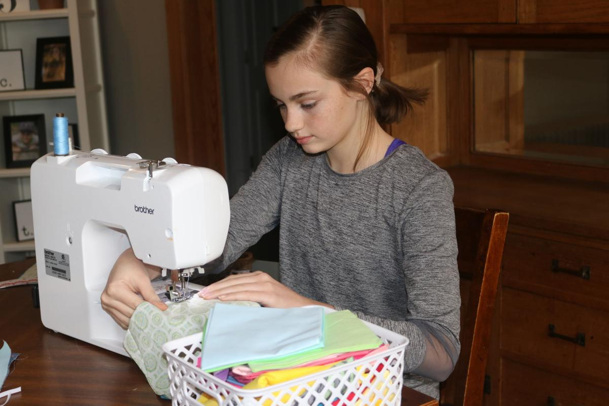 Cadence Driscoll sewing