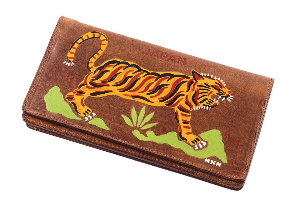Handpainted Tiger Souvenir Wallet - Brown