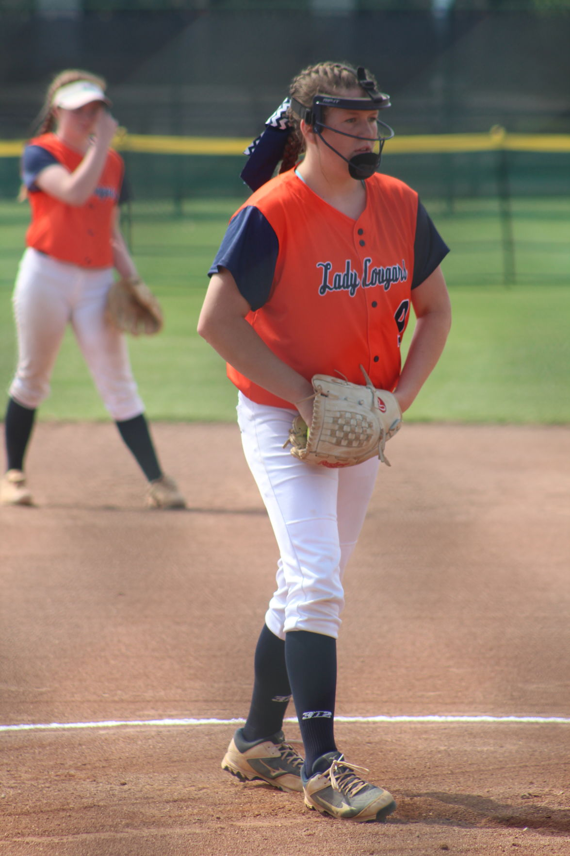 Dickson County's Ashlan Sensing pitched the elimination game against Dyer County.JPG