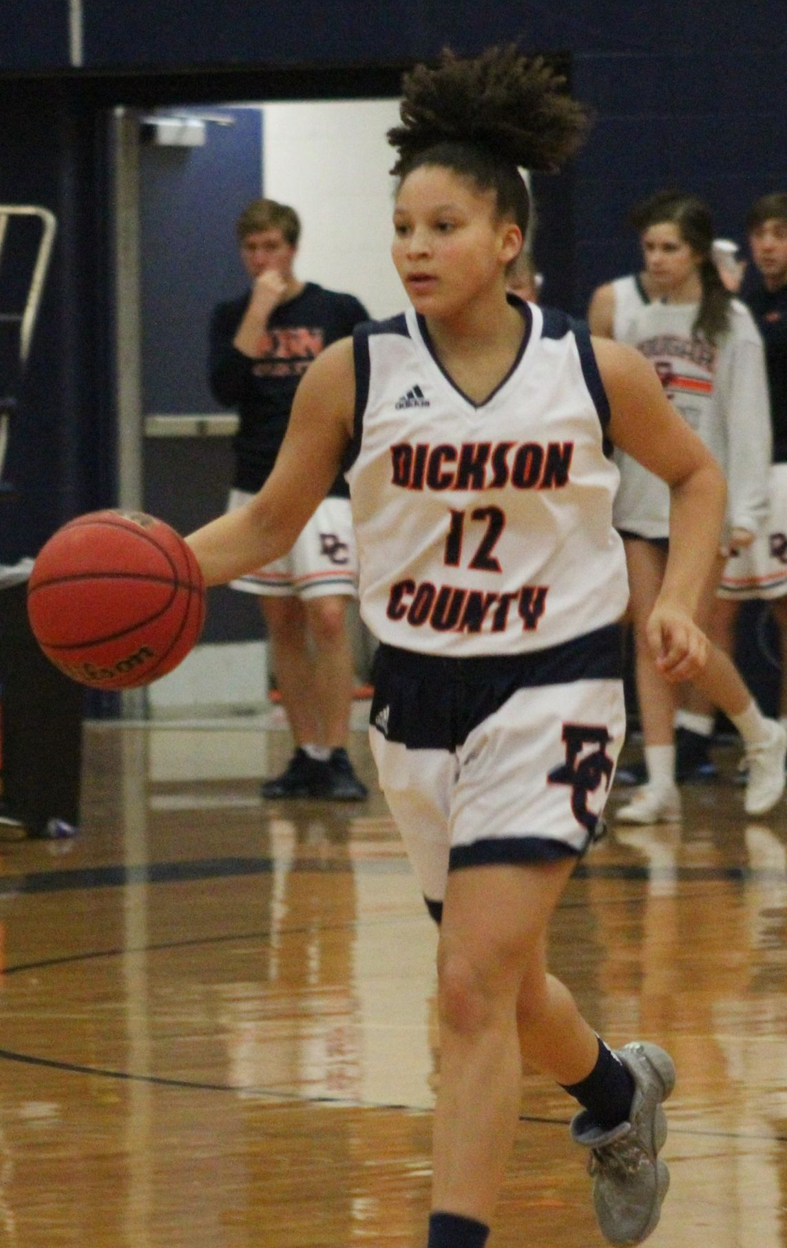 Ashley Jackson brings the ball up the court (Picture by Cameron Klotz).JPG