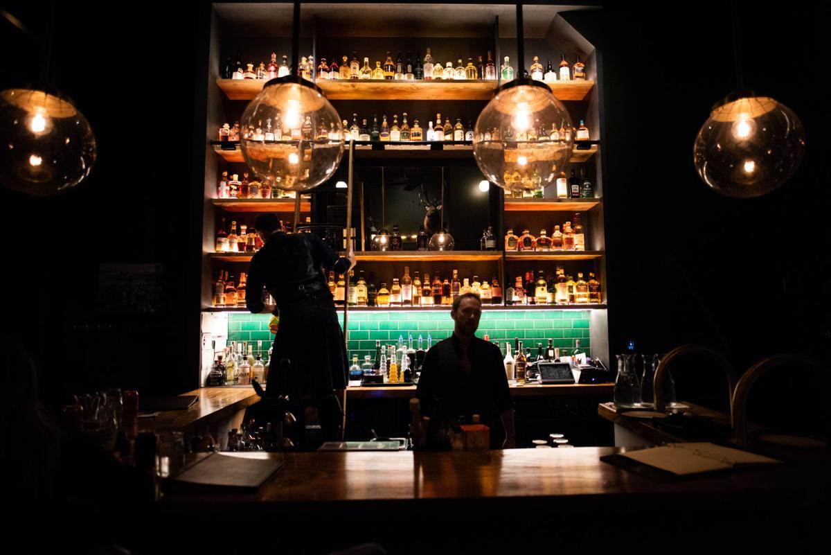 Ben Thompson and Corey Teubner at Blaylock's Whiskey Bar
