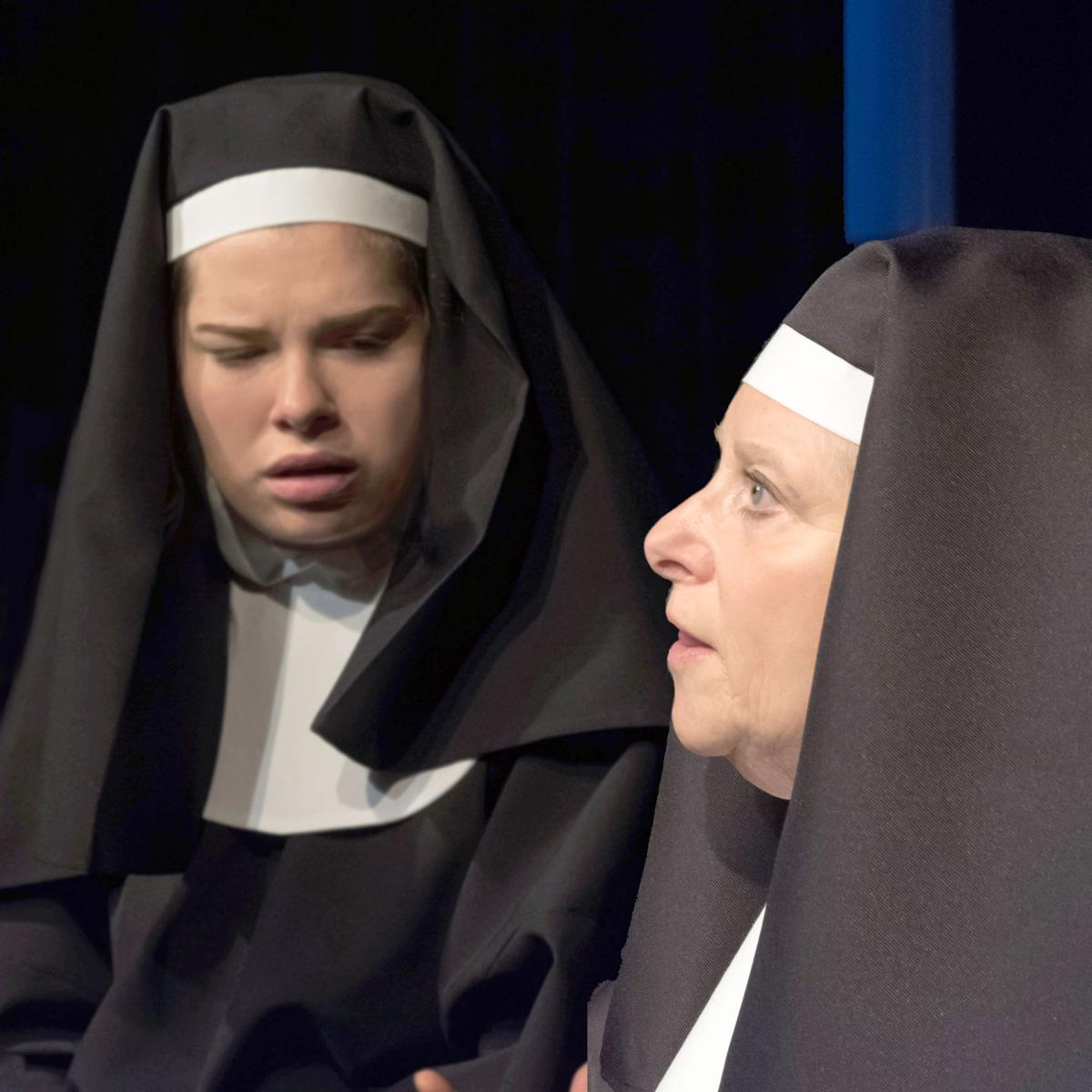 191101_oct_Foreground - Linda Capshaw in the role of Sister Aloysius - with Autumn Green in the role of Sister James.jpg