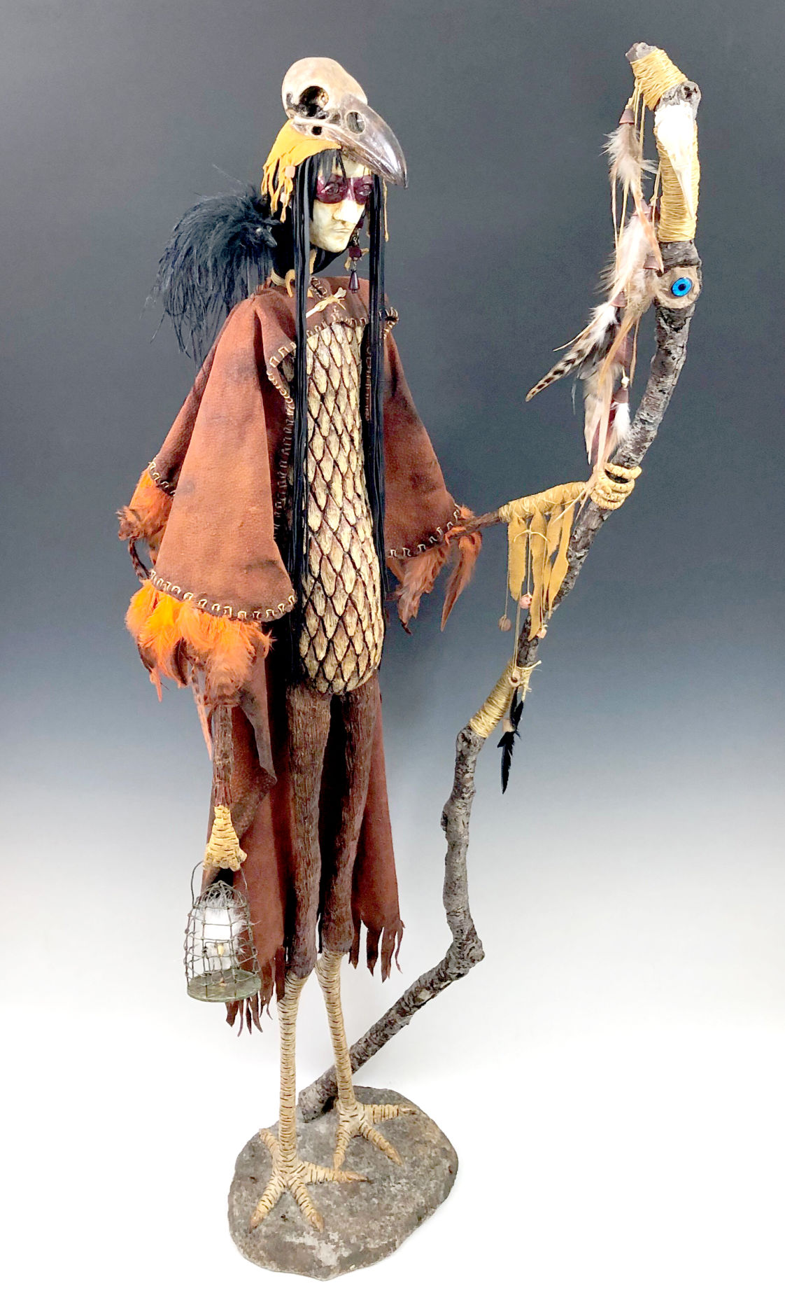 190301_oct_tag_Creature with stick, sculpture-assemblge, Janet Runger.jpg