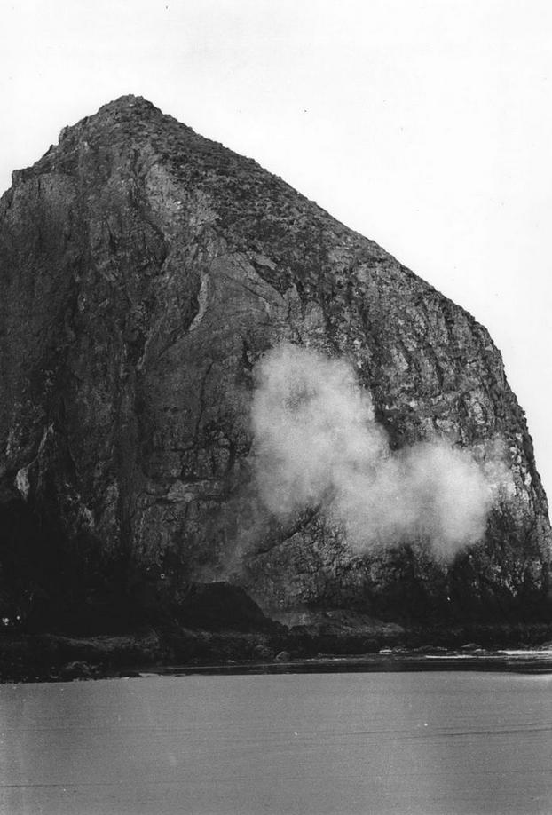 Haystack Rock blasted